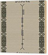 Byrne Written In Ogham Wood Print