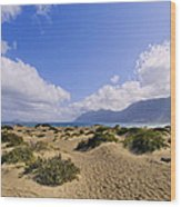 Caleta De Famara Beach On Lanzarote Wood Print