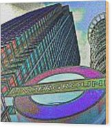 Canary Wharf London Art Wood Print