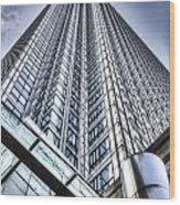 Canary Wharf Tower Wood Print