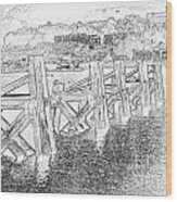 Cardiff Bay Wood Print