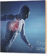 Cardiovascular Exercise Wood Print