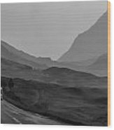 Cars And Other Vehicles In The Scottish Highlands Wood Print