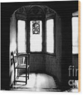 3 Castle Rooms Bw Wood Print