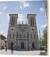 Cathedral Of San Fernando Wood Print by Karen Cowled