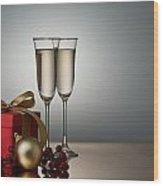 Champagne Wood Print
