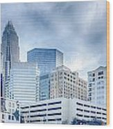 Charlotte Downtown  Wood Print