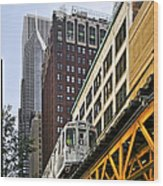 Chicago Loop 'l' Wood Print