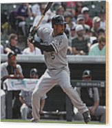 Chicago White Sox V Colorado Rockies 3 Wood Print
