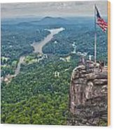 Chimney Rock At Lake Lure Wood Print