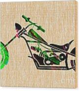 Chopper Motorcycle Wood Print