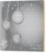 Christmas Background Wood Print