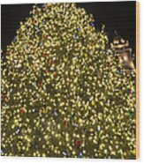 Christmas Tree Ornaments Faneuil Hall Tree Boston Wood Print