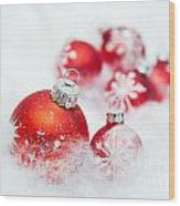 Christmas Decorations Wood Print