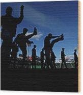 Cincinnati Reds V Boston Red Sox Wood Print