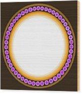 Circle Motif 139 Wood Print
