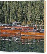 Show Boats Wood Print
