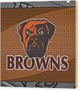 Cleveland Browns Wood Print by Joe Hamilton