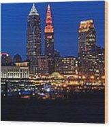 Cleveland Panorama Wood Print