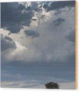 Clouds Over Maasai Mara, Kenya Wood Print