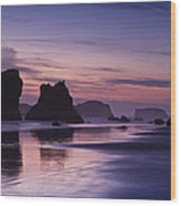 Coastal Reflections Wood Print by Andrew Soundarajan