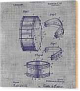 Collapsible Drum Patent 008 Wood Print