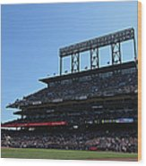 Colorado Rockies V. San Francisco Giants Wood Print