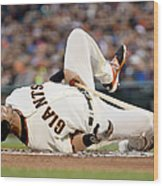 Colorado Rockies V San Francisco Giants Wood Print
