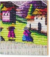 Colorful Fabric At Market In Peru Wood Print