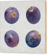 Concord Grapes Wood Print by Danny Smythe
