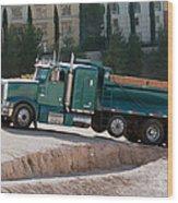 Construction Truck Wood Print