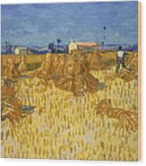Corn Harvest In Provence Wood Print