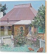 Country Cottage Wood Print