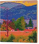 Cowichan Bay From Doman's Road Wood Print