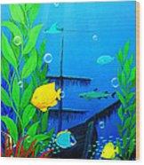 3-d Aquarium Wood Print