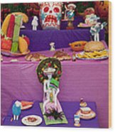 Day Of The Dead Remembrance, Mexico Wood Print