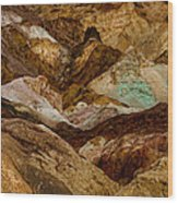 Death Valley Painted Rock Wood Print