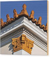 Decorative Roof Tiles In Plaka Wood Print