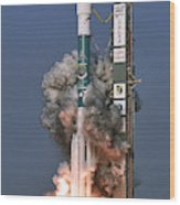 Delta II Rocket Launch Wood Print