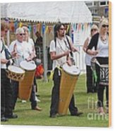 Dende Nation Samba Drum Troupe Wood Print