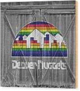 Denver Nuggets Wood Print by Joe Hamilton