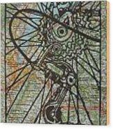Derailluer On Map Wood Print