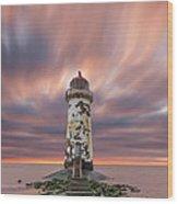 Deserted Lighthouse Wood Print