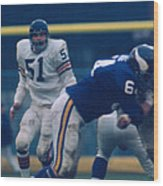 Dick Butkus Wood Print