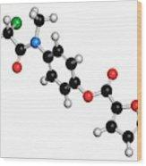 Diloxanide Furoate Amoebiasis Drug Wood Print