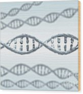 Dna Strands Wood Print