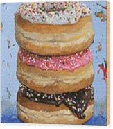 3 Donuts #2 Wood Print