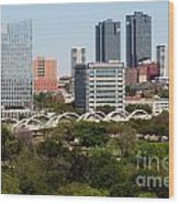 Downtown Fort Worth Texas Wood Print