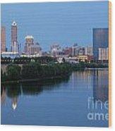 Downtown Indianpolis Indiana Skyline Wood Print