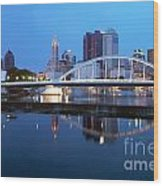 Downtown Skyline Of Columbus Wood Print